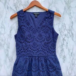Cynthia Rowley Navy Blue Eyelet Dress w/ Pockets
